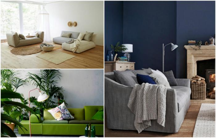 Модные идеи в сфере дизайна гостиных.