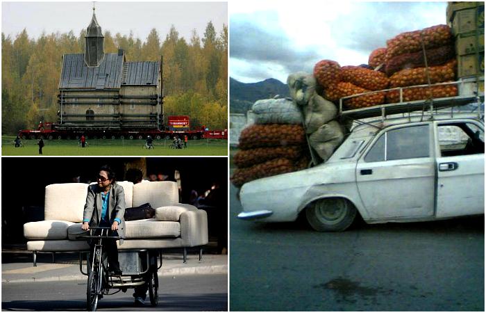 Невероятные снимки, демонстрирующие настоящие чудеса транспортировки.