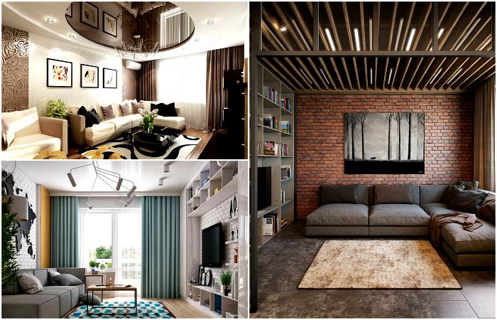 Реальные идеи дизайна небольшой гостиной.