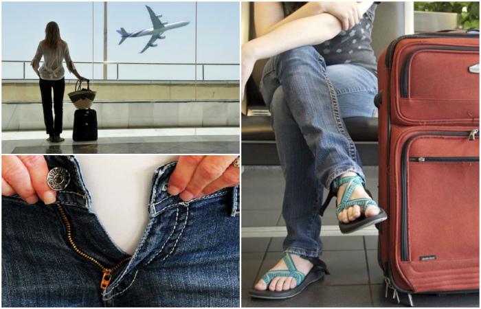 Одежда, которую не стоит надевать в самолет.