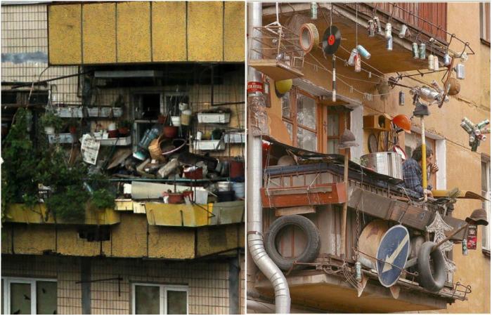 Καταπληκτικά μπαλκόνια Ρώσων.