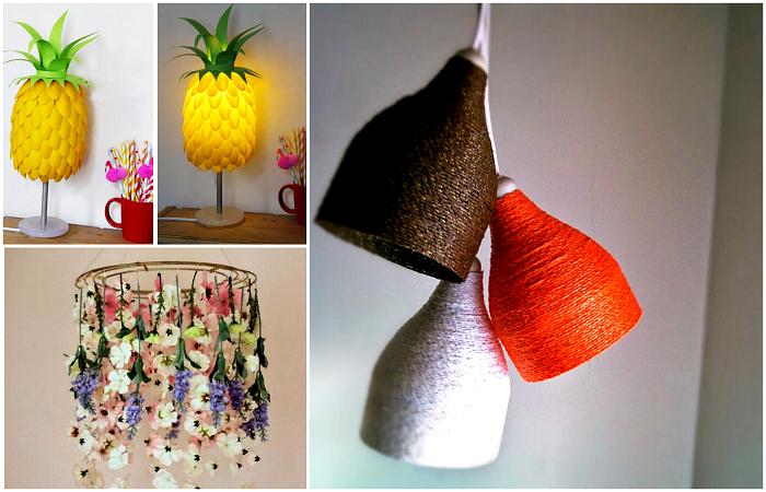 Идеи дизайна и декора светильников, которые можно сделать своими руками.