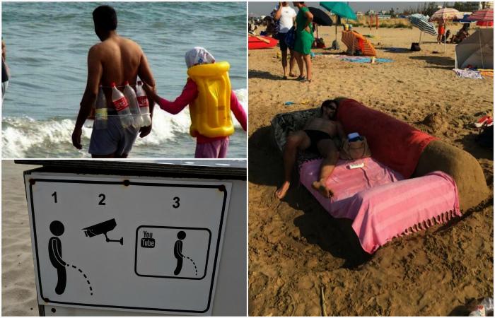 Забавные ситуации, которые удалось наблюдать летом на пляже.