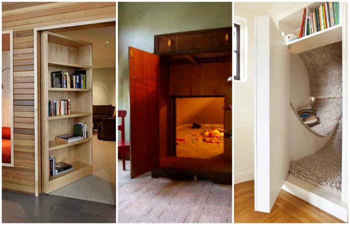 Потайные комнаты, о которых мечтают дети и взрослые.