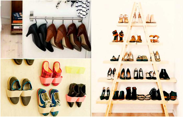 Оригинальные идеи хранения обуви.