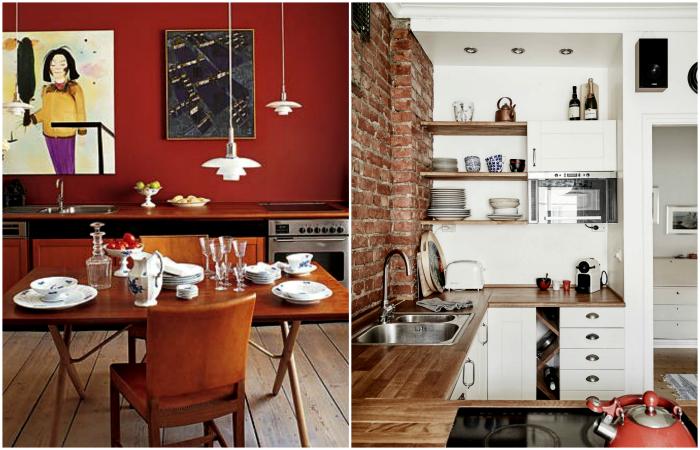 Стильные идеи обустройства небольших кухонь.