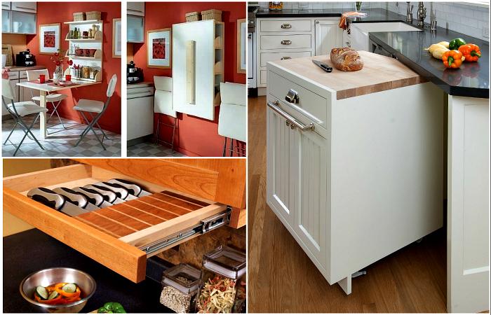 Практичные идеи обустройства небольшой кухни.