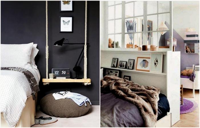 Идеи организации пространства вокруг кровати.