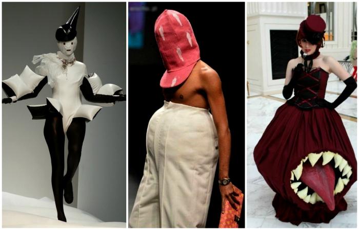 Безумные наряды, которые доказывают, что современная моды весьма специфична.