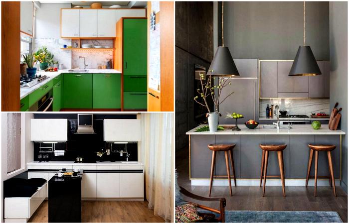 Интересные идеи оформления небольшой кухни.