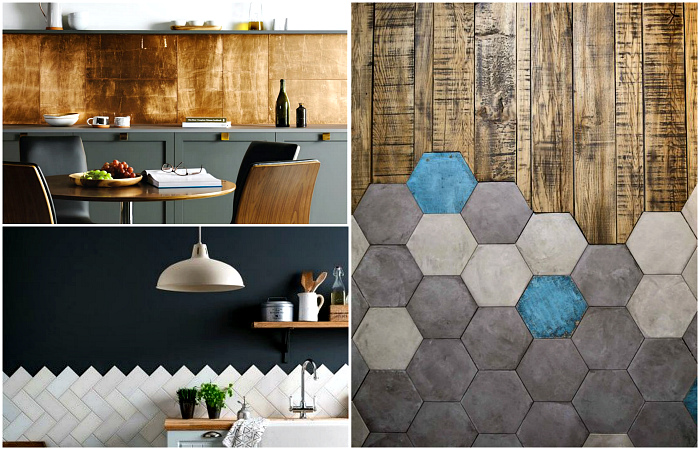 Интересные варианты отделки стен и пола керамической плиткой.