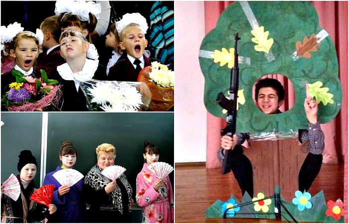 Смешные фотографии о веселых школьных буднях.