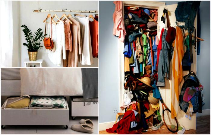 Идеи для тех, кому нужно разгрузить шкаф, ничего не выбрасывая.