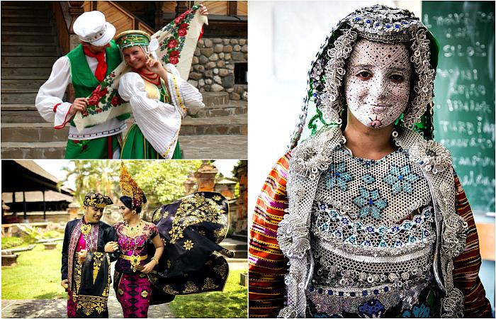 Фантастические свадебные наряды разных народов мира.