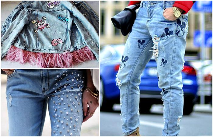 Крутые идеи, которые помогут преобразить старые джинсы.