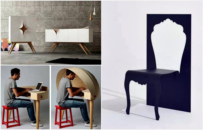 Нетривиальная дизайнерская мебель, которая украсит даже самую простую квартиру.