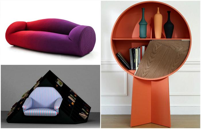 Креативная мебель, которая оживит интерьер.