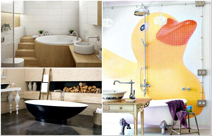 Необычные идеи дизайна ванной комнаты.