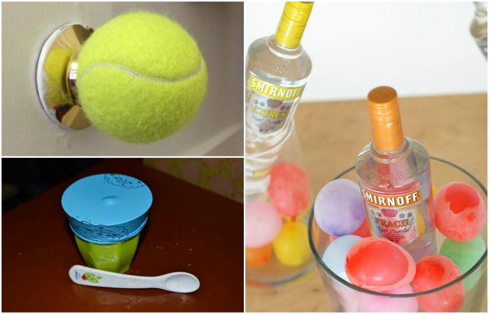 Интересные идеи использования воздушных шаров и теннисных мячей.