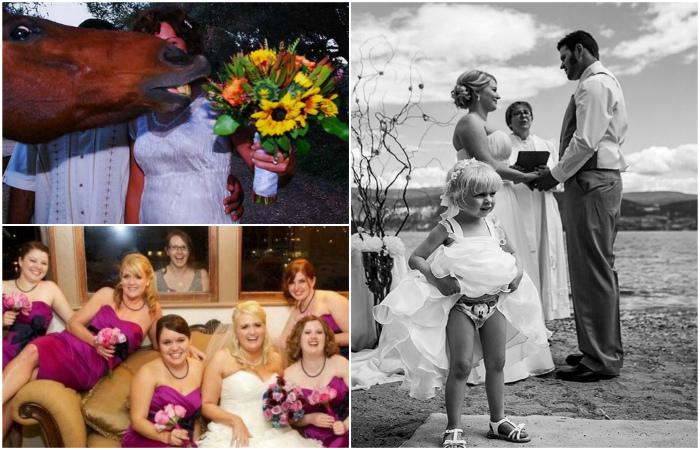 Свадебные фотобомбы, где что-то пошло не так.