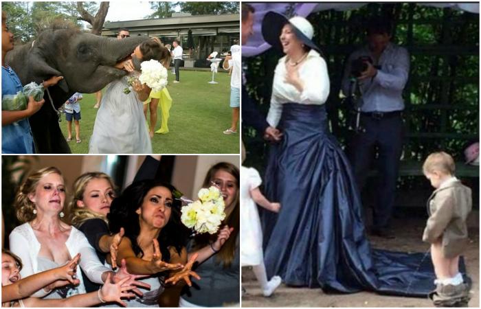 Неудачные свадебные снимки, которые не хочется показывать никому.