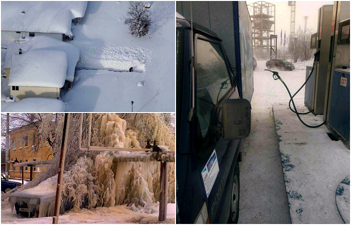 Правдивые фотографии о зиме, которая уже вовсю шагает по стране.
