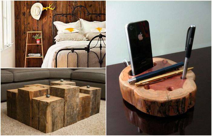 Креативные вещи из дерева для красоты и уюта в доме.