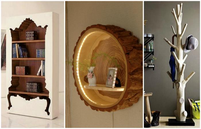 Эксклюзивная мебель и аксессуары из натурального дерева.
