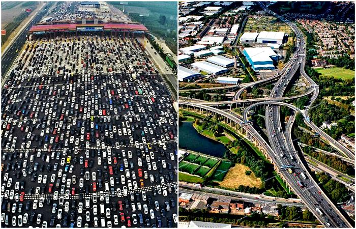 Оригинальные и сложные транспортные развязки в разных уголках мира.