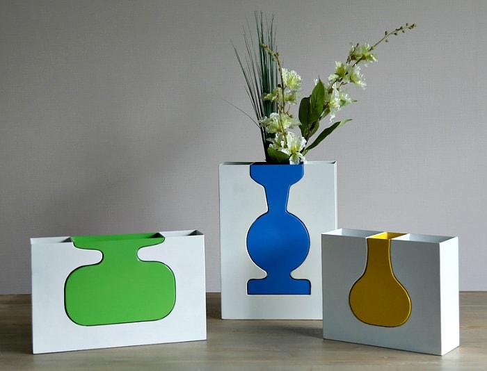 Оригинальные цветочные вазы.