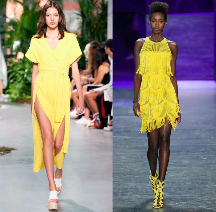 Платья желтого цвета.