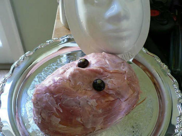 Пирог «Лицо».