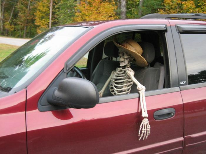 Костлявый водитель. | Фото: Reddit.