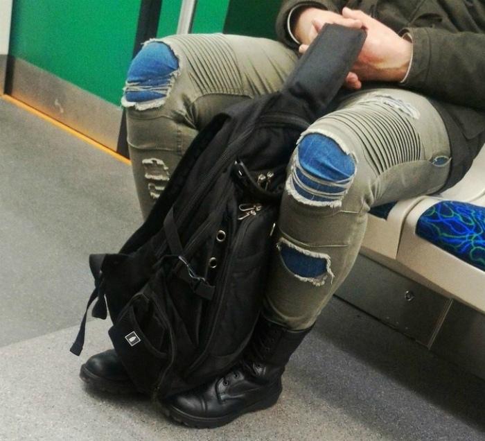 Джинсы на джинсы.