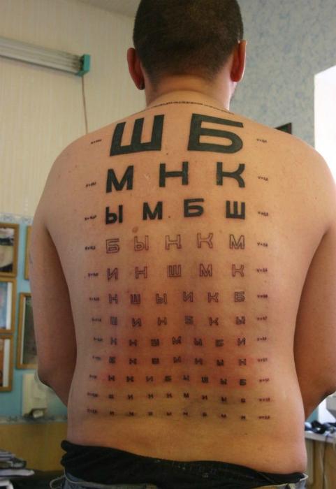 Татуировка врача-окулиста.