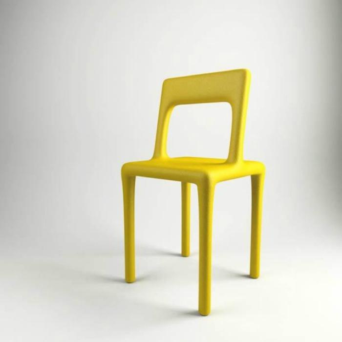 Яркий стульчик, на который невозможно присесть.