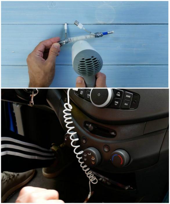 Превратить обычный шнур в пружинный. | Фото: Cleverly, Pinterest.