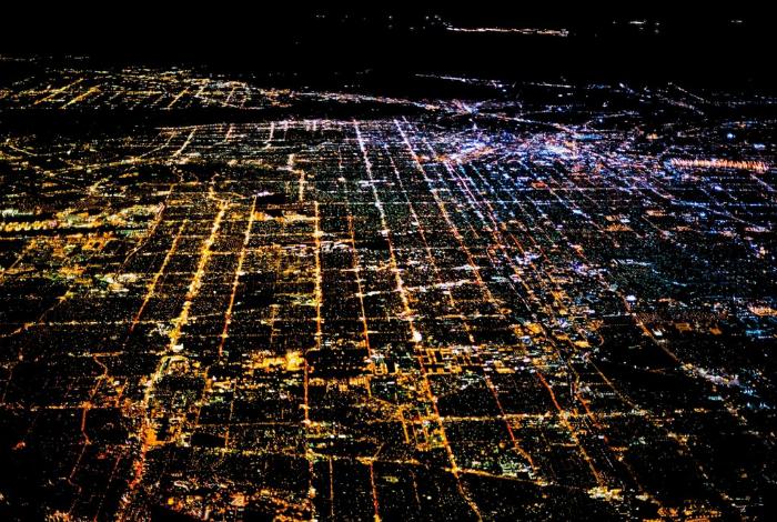 Ночной Лос-Анджелес. Фотограф: Том Андерсон.