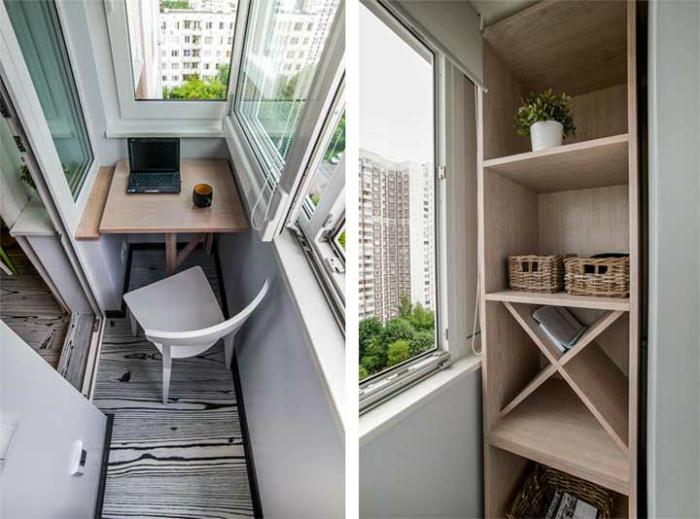 Рабочий кабинет на балконе. | Фото: pinterest.ca.