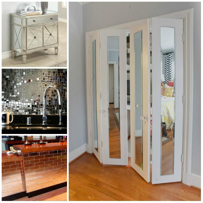 Зеркала и зеркальные поверхности не только добавят роскоши интерьеру, но и помогут визуально расширить пространство квартиры.