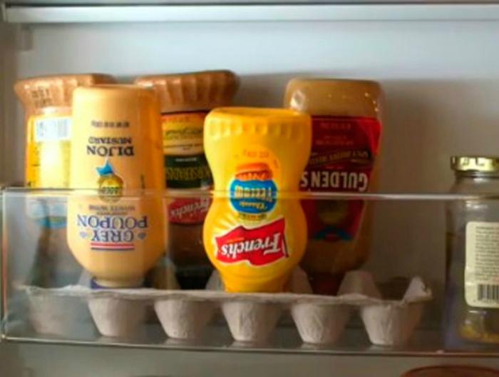 Хранение соусов в холодильнике.