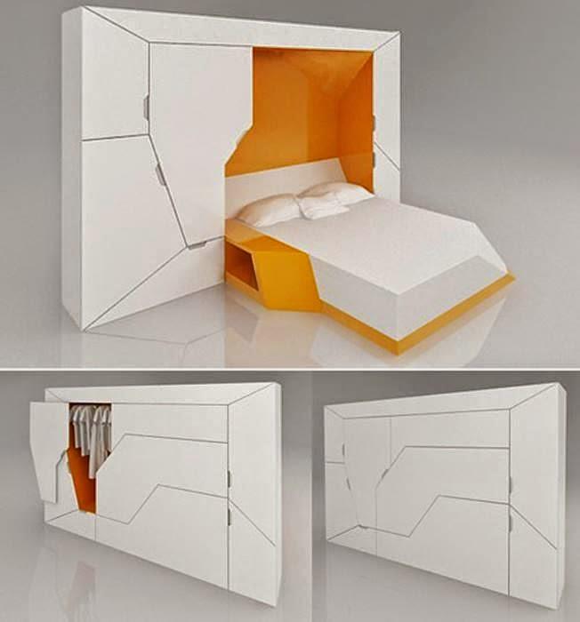 Спальный модуль, который состоит из двуспальной кровати, прикроватной тумбочки и вместительного шкафа.