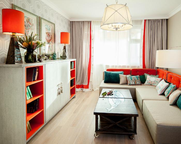 Яркие детали в интерьере. | Фото: homebuilding.ru.
