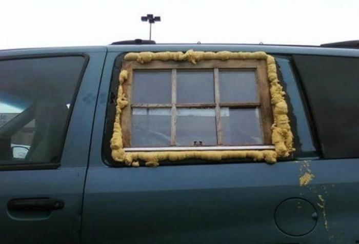 Окно в машину.