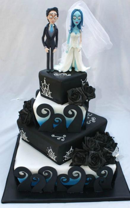 Необыкновенный свадебный торт по мотивам известного мультфильма.