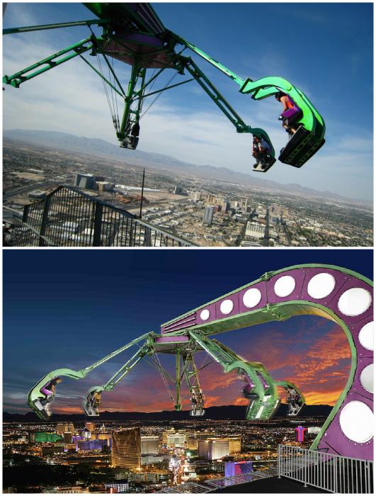 Аттракцион «Безумная поездка» в Лас-Вегасе. | Фото: Flickr.