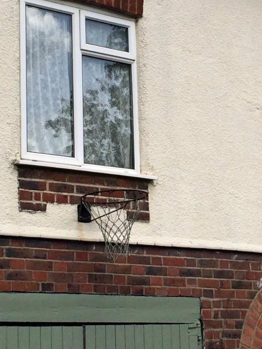 Расположение баскетбольного кольца.