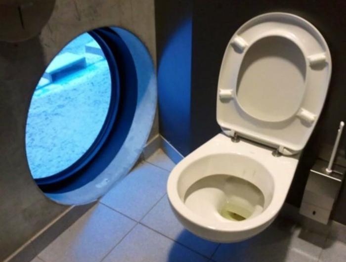 Туалет с окном.