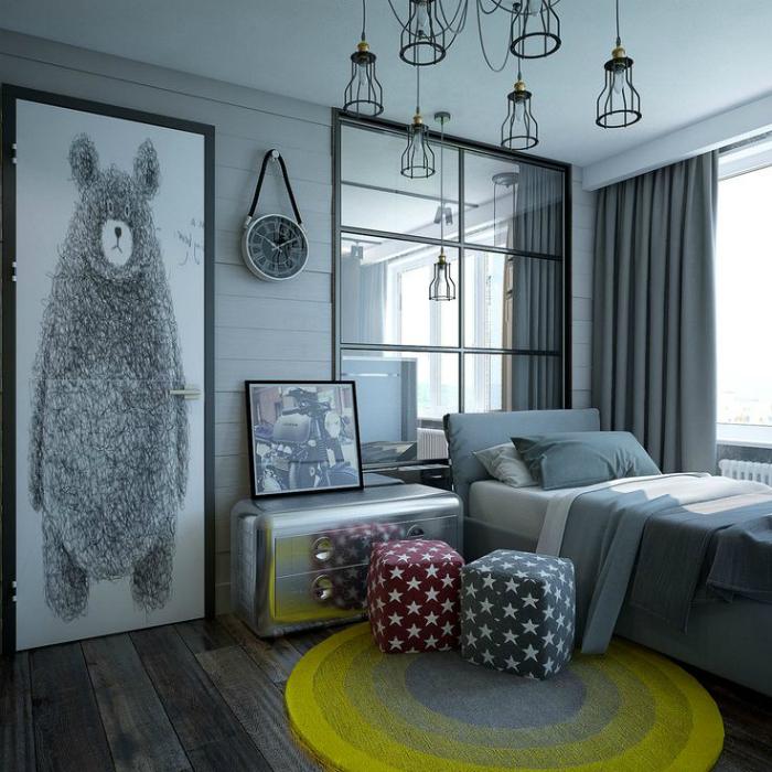 Сказочная спальня в серых тонах.