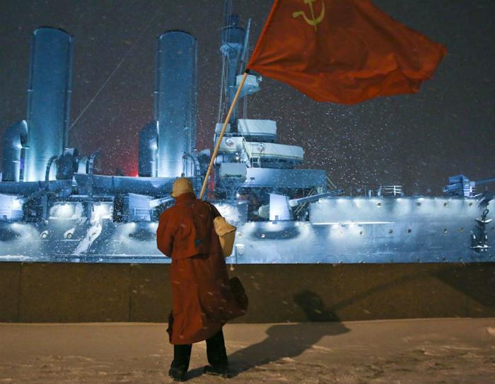 Красный флаг.